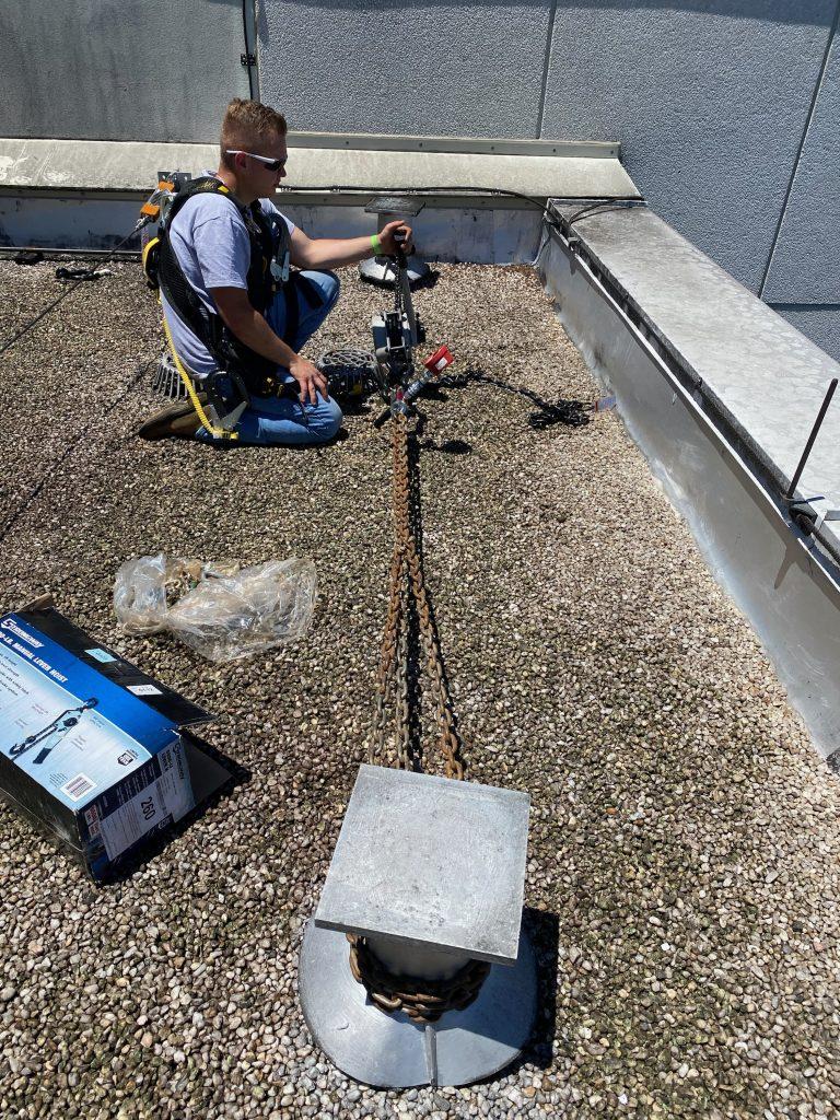Rooftop Anchor Testing in Phoenix Arizona