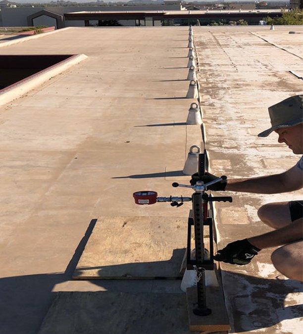 OSHA 1910.27 Anchor Testing Verification Company for Rooftop anchors